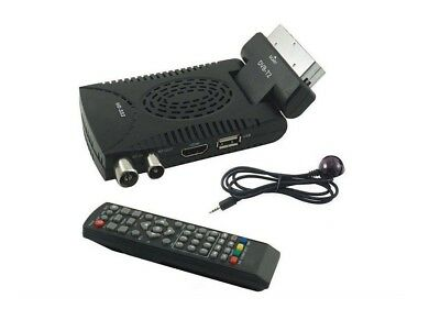 Digitale Terrestre Decoder Mini Dvb T2 Scart 180 Usb Hdmi Hd 333 Con Telecomand