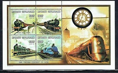 Central African Republic 1998 LNER Railway Locos sheetlet of 4 unmounted mint