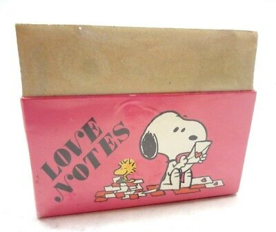 1965 SNOOPY & WOODSTOCK Love Notes Peanuts NEW OLD STOCK SEALED Vintage