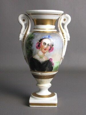 1850 Jar Empire Antique Porcelain French With Handles In Snake
