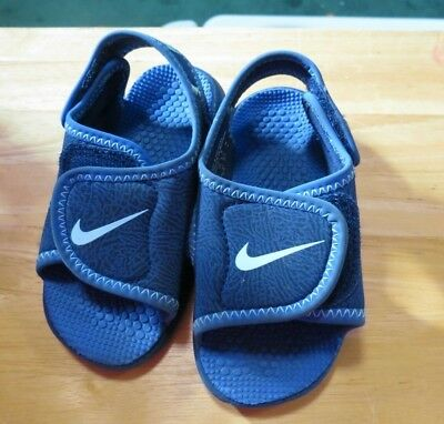 f50a4579839d21 NIKE SUNRAY PROTECT Toddler Boys Blue Sandals water Shoes~size 7 C ...