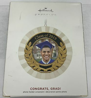 Hallmark Keepsake 2019 Congrats, Grad! Porcelain and Metal Photo Frame Ornament