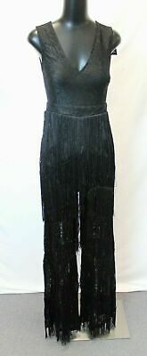 c03fd924c81 Nasty Gal Women s Shake Your Body Lace Jumpsuit KB8 Black US 4 NWT