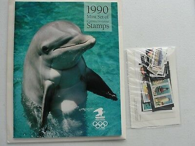 Sealed 1990 Commemorative USPS Yearbook Souvenir Mint Stamp Set w Stamps