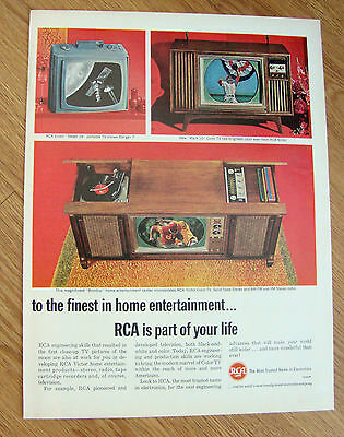 1964 RCA TV Television Phonograph Radio Ad Finest in Home Entertainment