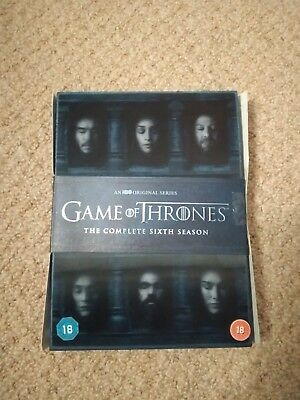 GAME OF THRONES---SEASON 6 dvd ---THE COMPLETE 5 DISCS