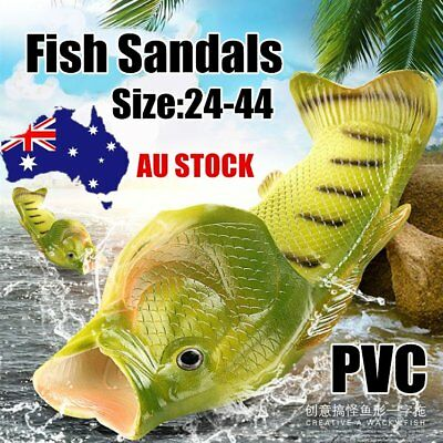 Anti skid Beach Fish Slippers Breathable PVC Handmade Funny Fish Sandals LOT G2