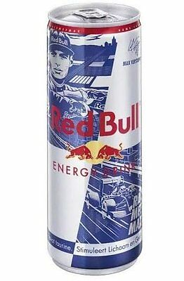 2 x Limited Edition Red Bull Energy Drink Max Verstappen Can 250ml