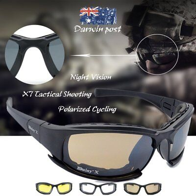 X7 Tactical Shooting Goggles Polarized Cycling Sunglasses with Night Vision B4U