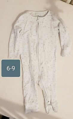The Little White Company Baby Babygrow Playsuit 6-9 Months All In One