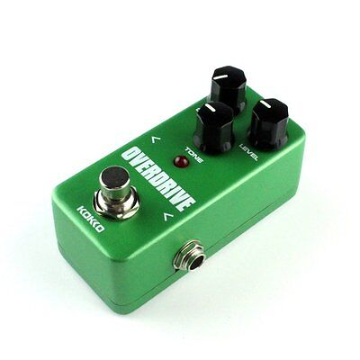 Mini Vintage Overdrive Guitar Effect Pedal Overload Guitar Stompbox FOD3 RB