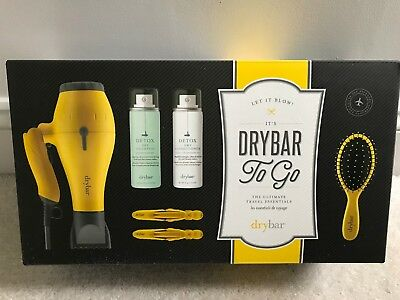 NEW In BOX! DRYBAR to Go Ultimate Travel Essentials Kit 6 PIECE SET