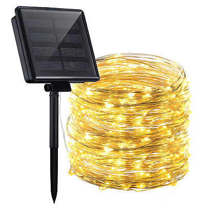 Mpow 200 LED 8 Modes Solar Powered String Lights, 72ft Copper Wire Starry...