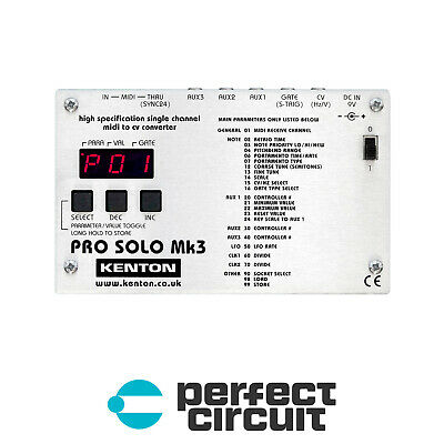 Kenton Pro Solo Mk3 MIDI to CV Converter MIDI INTERFACE NEW - PERFECT CIRCUIT