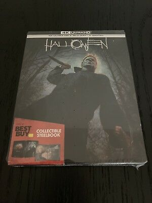 Halloween 2018 4K Ultra + HD Blu-ray + Digital STEELBOOK Best Buy Exclusive NEW