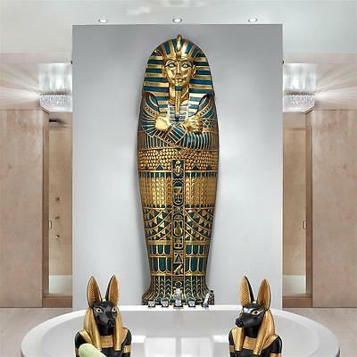 6' Egyptian Boy King Tut Sarcophagus Tomb of the Pharaoh Wall Mount Sculpture