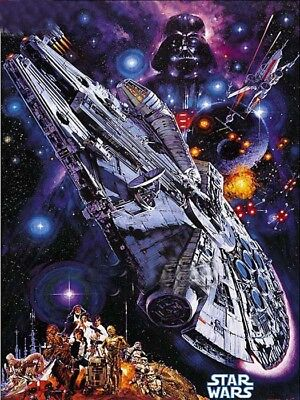 ***REDUCED***  DIAMOND PAINTING - STAR WARS SPACE SHIP - FULL ROUND - multi size
