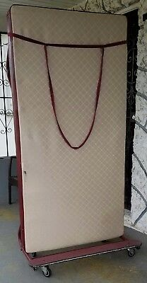 Burgundy Sico Mobile Sleeper (TWIN MATTRESS INCLUDED) FAIR CONDITION