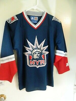 New York Rangers jersey boys S M  Statue of Liberty  by STARTER vintage 5890c4016