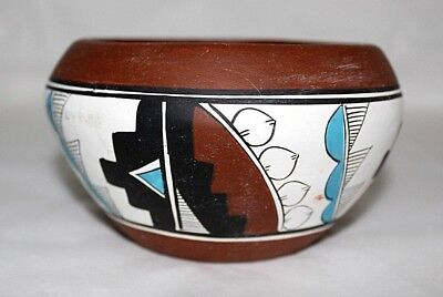Native American Pottery Bowl Signed Martin G Made in Mexico