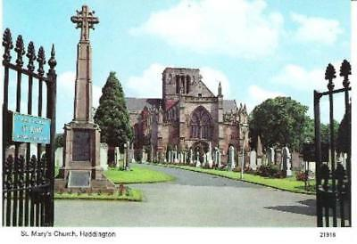 Haddington, E Lothian - St. Mary's Church - Skilton postcard c.1970s