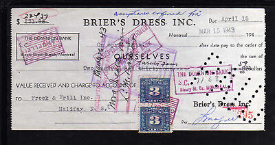 9M1060 - 1943 Brier's Dress Inc. - Montreal Quebec