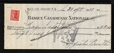 9M1875 - 1949 Banque Canadienne Nationale - Black Lake ( Megantic ) Quebec