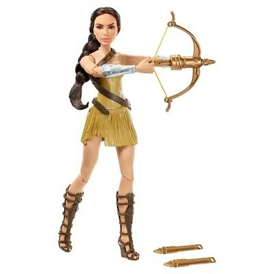 """DC Wonder Woman Bow-Wielding 12"""" Action Figure. Real Launching Arrows!"""