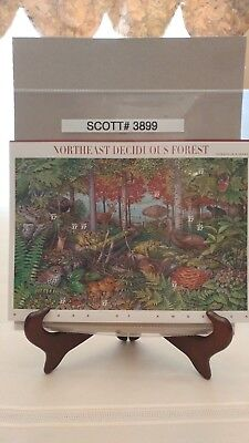 Scott # 3899 - Nature of America Series-Northeast Deciduous Forest-Sheet of (10)
