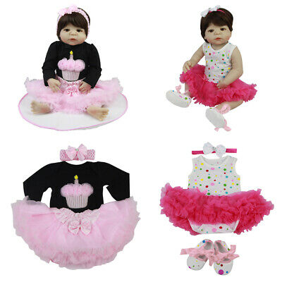 Reborn Baby Dolls Clothes Dress for 20-23inch Reborn Girl Doll Casual Outfit
