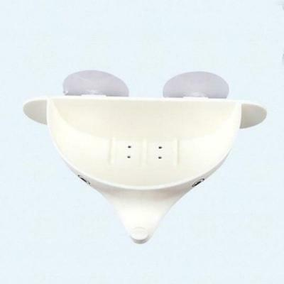 Soap Toothbrush Box Dish Holder Shower Accessory Cute Elephant Suction Cup H