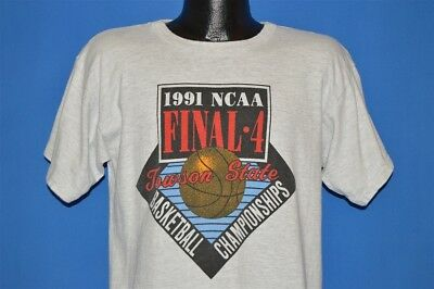 vintage 90s NCAA FINAL FOUR 1991 BASKETBALL CHAMPIONSHIP CHAMPION t-shirt LRG L