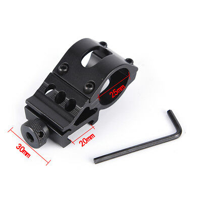 "45 Degree 1"" 25.4mm Ring Offset QD 21mm Rail Picatinny Flashlight Mount Fad US"