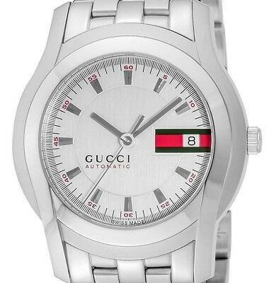 3d8bb81581f GUCCI G Class YA055205 Automatic Winding White Dial Men s Watch from Japan
