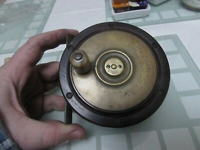 XX rare vintage malloch enright irish perth style salmon fly fishing reel 4.25""