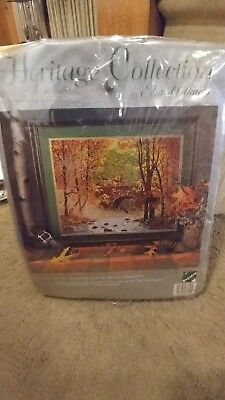 Heritage Collection Needlepoint Kit - Elsa Williams Autumn Bridge