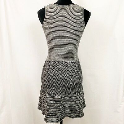 9cf0a31f1ebad Anthropologie Knitted Knotted Test Pattern Sweater Dress Size S Sleeveless  Gray