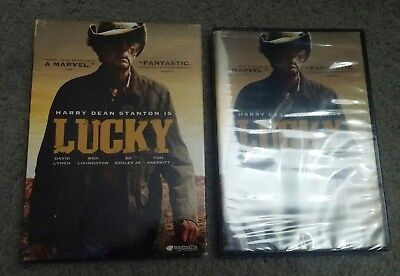 Lucky - Harry Dean Stanton - 2018 DVD - new sealed with sleeve - ships 1st cls