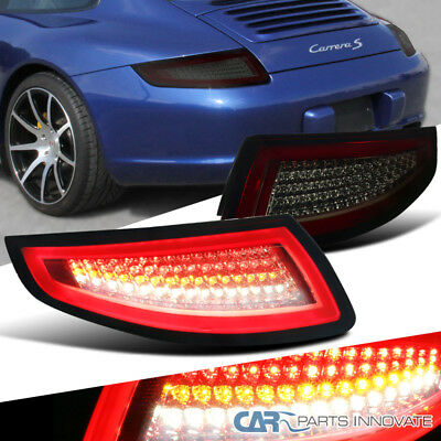 05-08 Porsche 911/997 GT3 GT2 Turbo Carrera Targa Red Smoke Lens LED Tail Lights