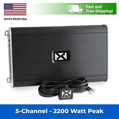 NVX VAD11005 1100W Full Range Class D 5-Channel Car Marine Powersports Amplifier