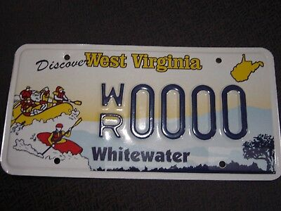 West Virginia Whitewater Sample License Plate Mint