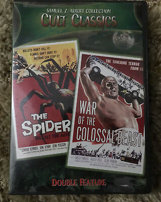 Dvd Samuel Arkoff Collection Cult Classics Spider + War Of Colossal Beast