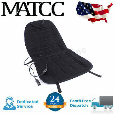 12V Car Front Seat Hot Cover Heater Heated Pad Cushion Warmer Winter Black US