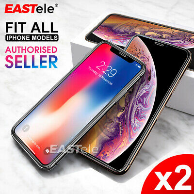 2x Genuine EASTele Apple iPhone X XS Max XR Tempered Glass Screen Protector Film