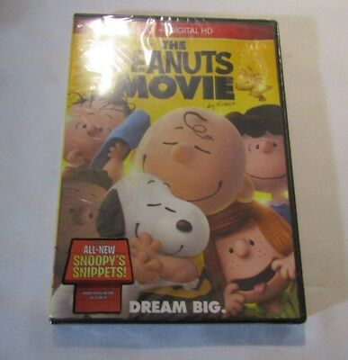 Brand New-sealed-The Peanuts Movie-All New Snoopy Snippets-DVD & Digital HD