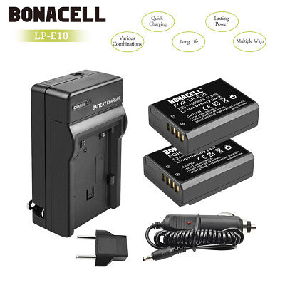 LP-E10 Battery / Charger LPE10 For Canon Rebel T3 T5 Kiss X50 EOS 1100D 1200D UB