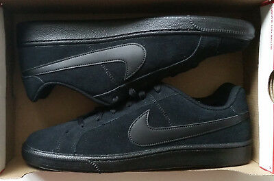 Nike Court Royale Suede Shoes Sneakers Mens Size 10 Black Black 819802 004  New 68114f169