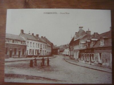 POMMEROEUL ( Bernissart ) ---- Grand'Rue                Carte reproduction Adeps
