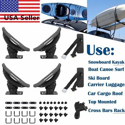 2pairs Roof Top Mounted Rack Cross Bars Snowboard Kayak Carrier for Truck Car HO
