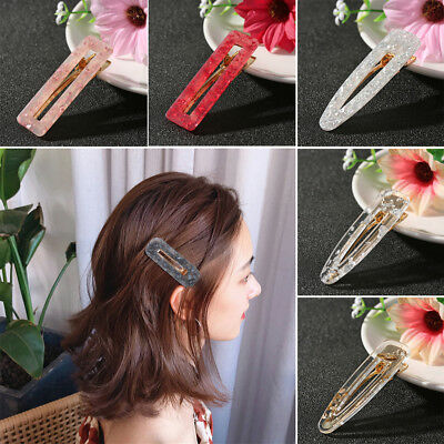 Fashion Women Acid Acetic Acrylic Pin Barrette Clip Hairpin Hair Accessories New
